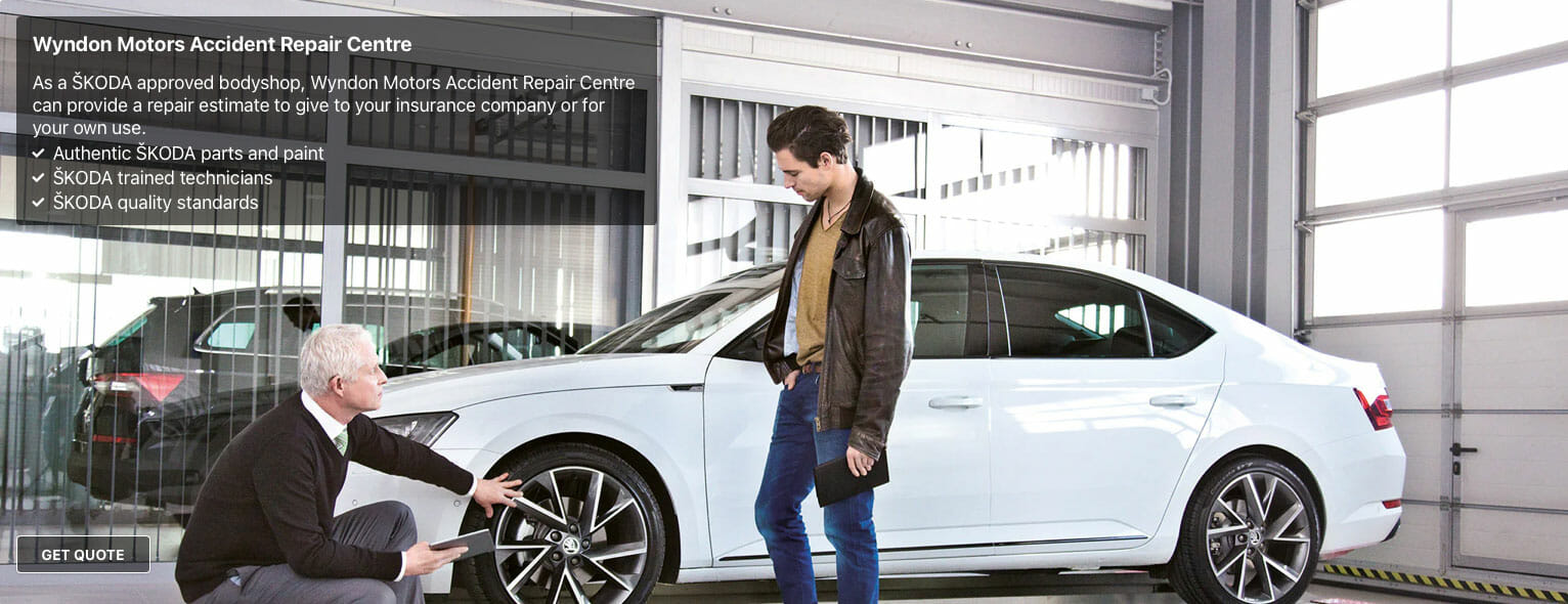 Skoda approved accident repairs