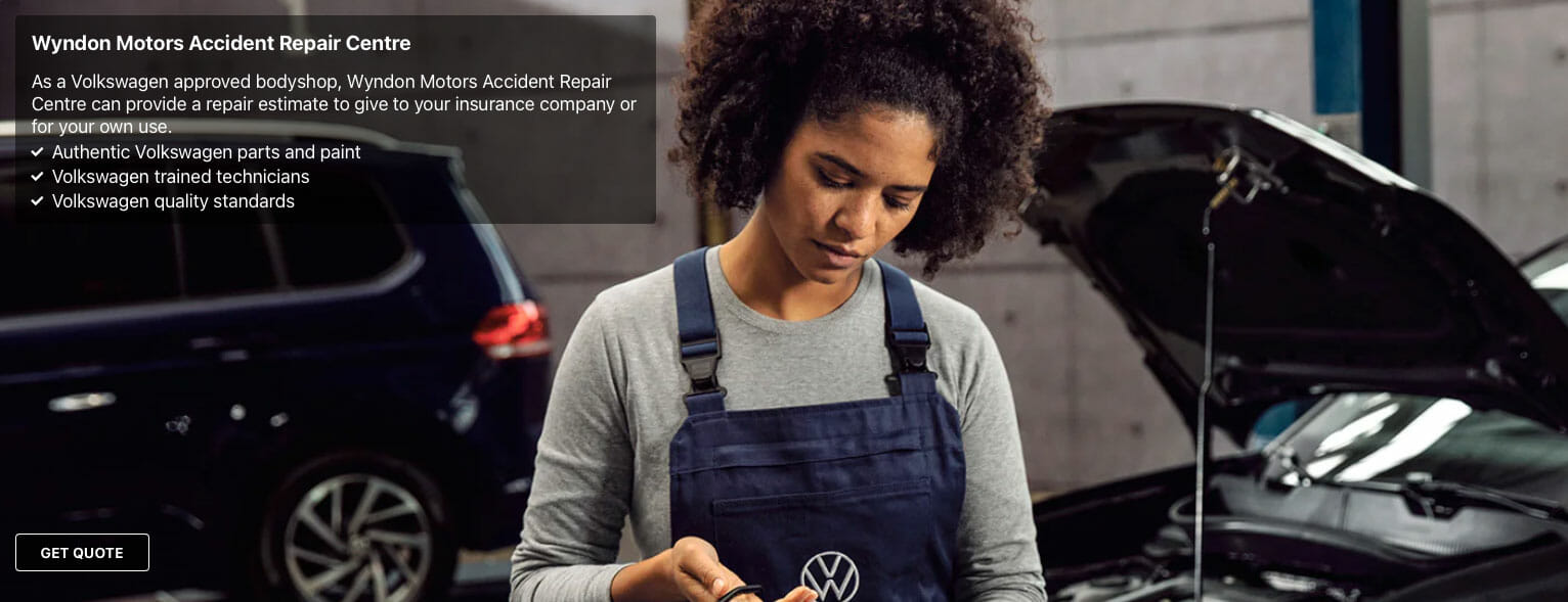 VW approved accident repair Centre