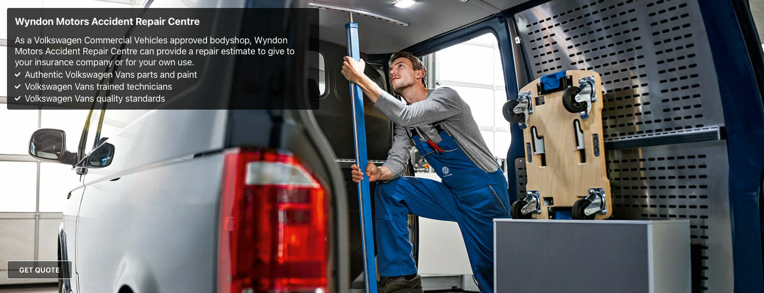 VW commercial vans accident repair centre
